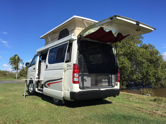 Hiace LWB pop top camper