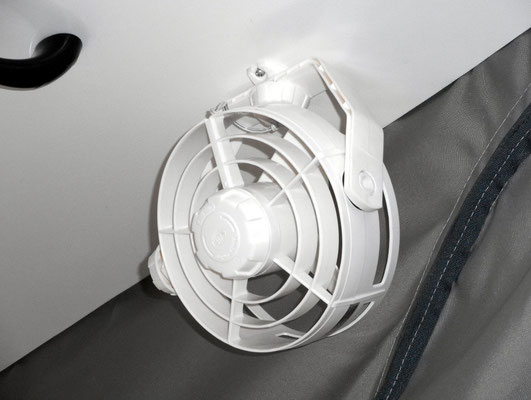 Hella fan fitted to roof ceiling