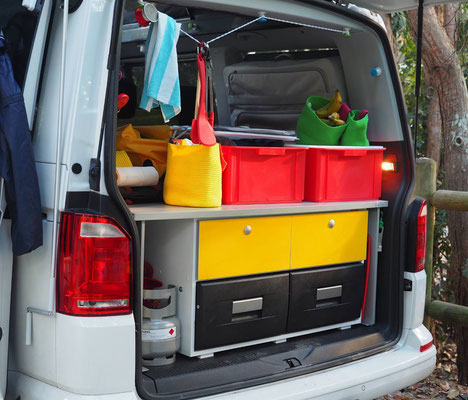 the rear storage can be easy removated