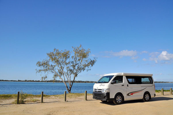 Hiace camper on NSW beaches