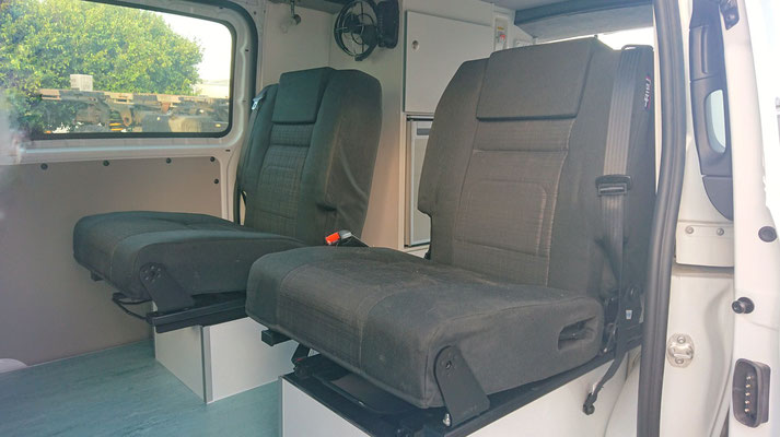 both rear seat with seats belts and integrated head rest