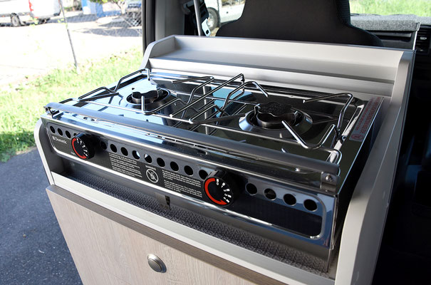 2 burner cooker for inside and outside