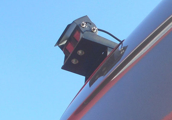 reverse AND permanent rear view camera on custom made brackets
