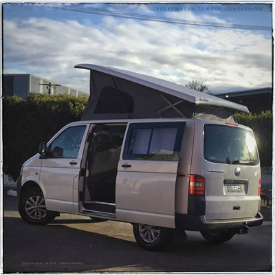 SWB VW T5 with elevated Euro roof