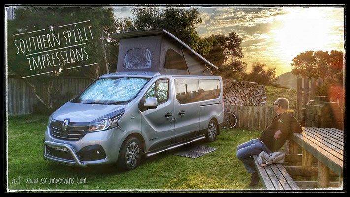 enjoy the freedom & space for 4 travellers in your Renault Trafic Southern Spirit conversion