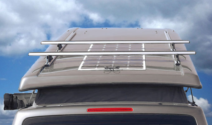 extra's avilable such as roof rack systems and solar panels