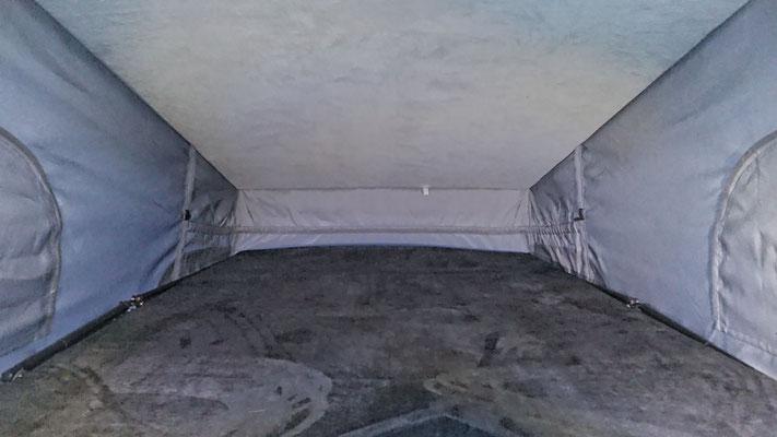 upper bed in Vito camper 185x110cm