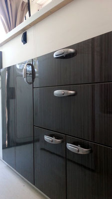 doors and drawers with Froli push lock handles