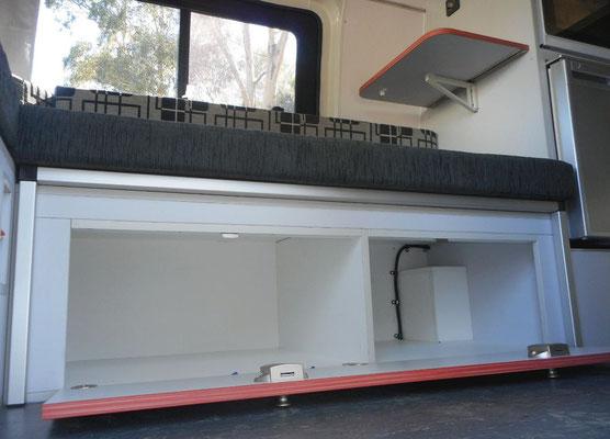 storage space under the bed