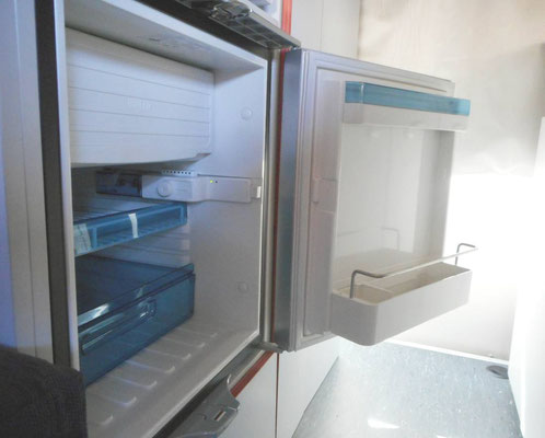 without getting on your knees- you access your Waeco fridge