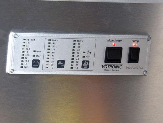 Votronic control  Info panel