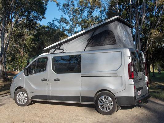 Campervan roof, rear higher tilted camper roof  Australia Reimo model 280613