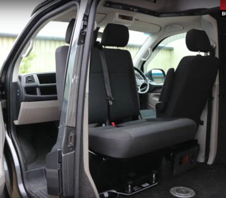 VW T5 double seat turn table Kiravans