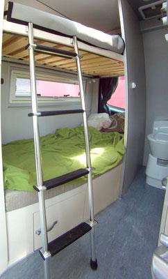 upp erbed easy to reach- bathroom to close with roller shutte door