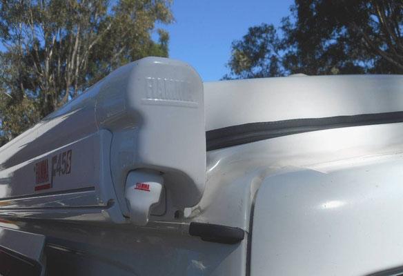 Fiamma F45S awning for Hiace with custom build brackets