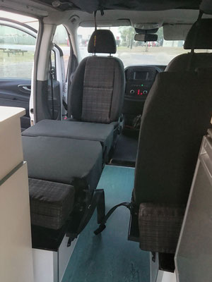 rear seats can be converted to create extra single beds