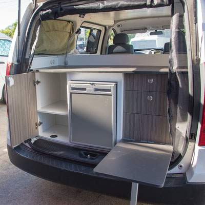 Rear kitchen Hyundai Iload by Southern Spirit Campervans