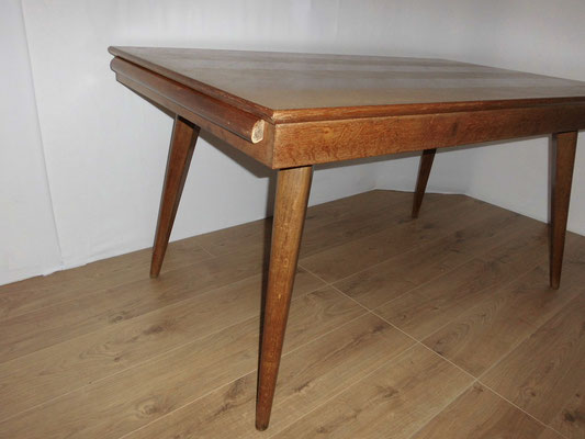 Table de repas en chêne vers 1950