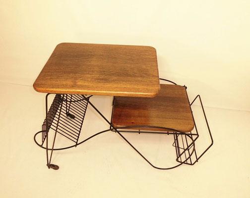 Superbe meuble vintage porte vinyles / revues