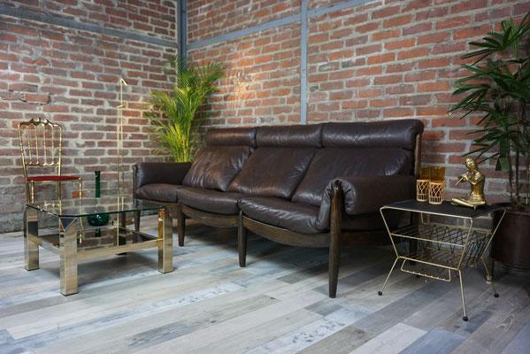 Magnifique canapé scandinave 3 places en cuir