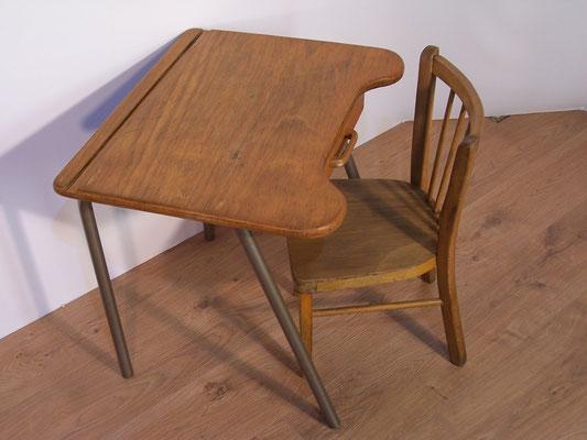 Bureau écolier vintage et sa chaise Baumann