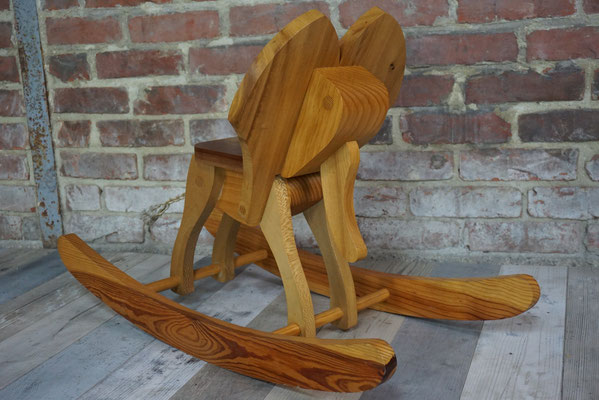 """Cheval à bascule tout en bois """"Elephant"""""""