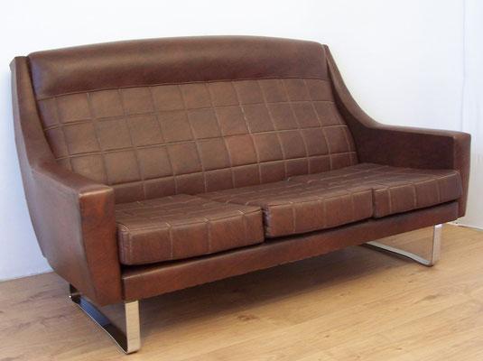 Canapé années 50 simili cuir - MAJDELTIER - Boutique en ligne !