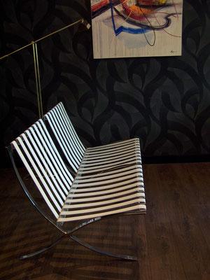 Canapé Barcelona design Mies Van Der Rohe
