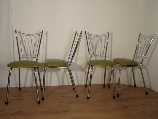 Chaises chromées des années 1960