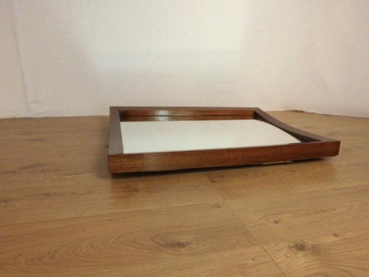 Miroir art déco sur cadre bois courbé
