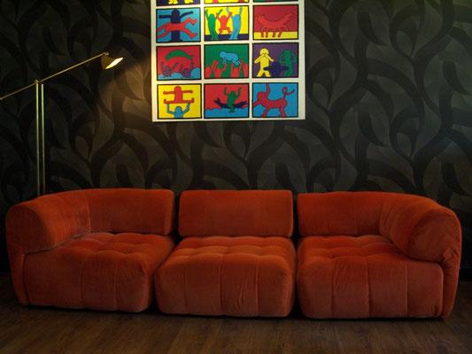 Canapé Lounge vers 1970, modulable