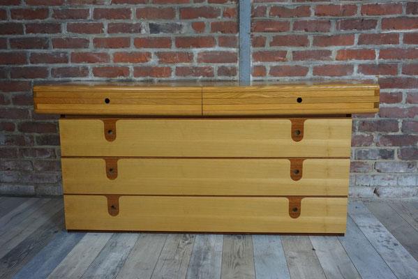 Grande commode vintage en bois design italien 1960-70
