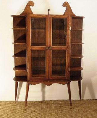 Meuble vitrine bibliothèque scandinave vers 1950-60