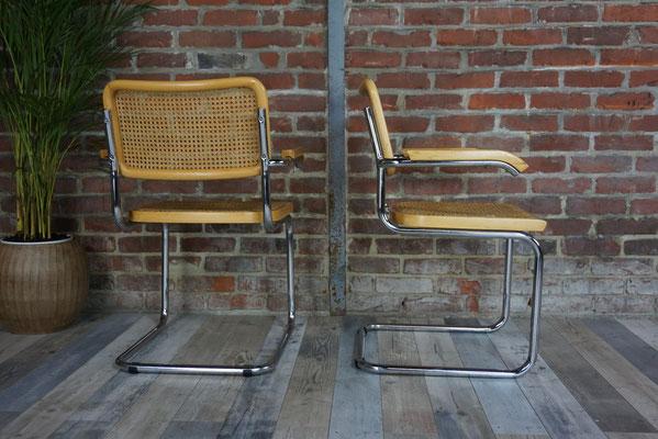 Paire de fauteuils design Marcel Breuer B34
