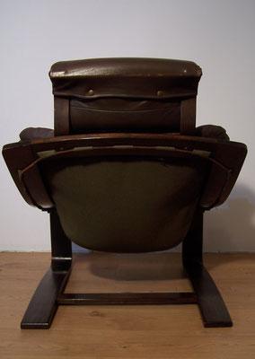 Fauteuil vintage lounge modèle Kroken d'Ake Fribyter pour Nelo