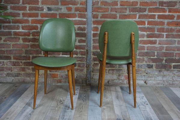 Suite de 6 chaises des années 50 design Pierre Guariche