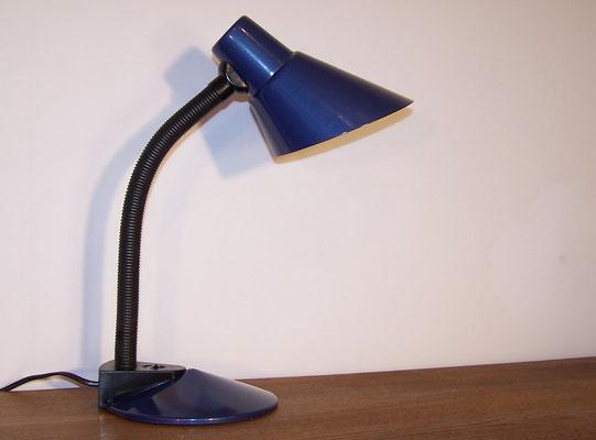 Lampe de bureau métal bleu
