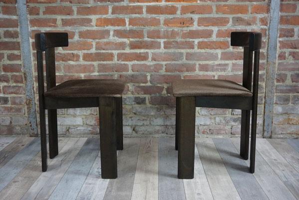 Suite de 6 Chaises 1971 Design Pinuccio Borgonovo, Former Italie