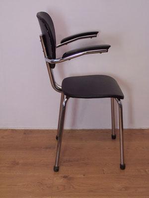Chaise de bureau vintage à accoudoirs 1950-60