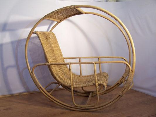 Fauteuil à bascule modèle Dondolo par Franco Bettonica vers 1960