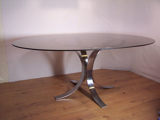 Grande table de repas space age seventies