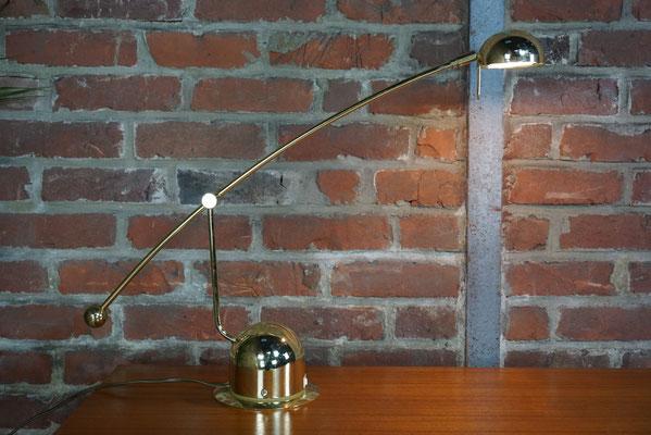 Lampe vintage à balancier articulée réglable, métal doré