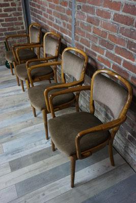 Superbe suite de 4 fauteuils bistrot, Spahn Stadtlohn 1960