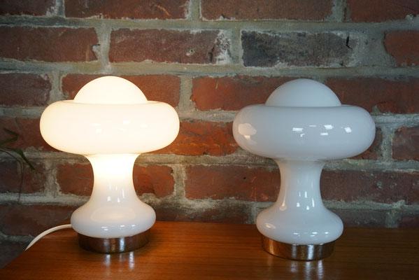 """Paire de lampes """"nuages"""" Peill Putzler, Mazzega"""