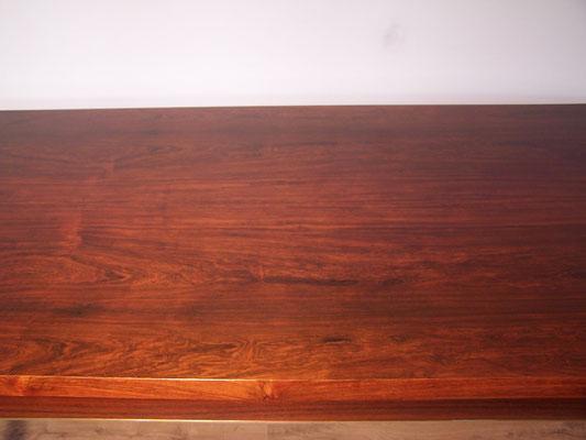 Table rectangulaire, extensible en palissandre et chrome