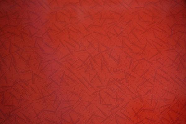 Buffet bas vintage années 50, plateau rouge graphique