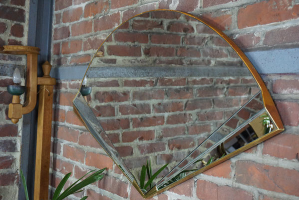 Grand miroir éventail de style Art Déco, maison Deknudt