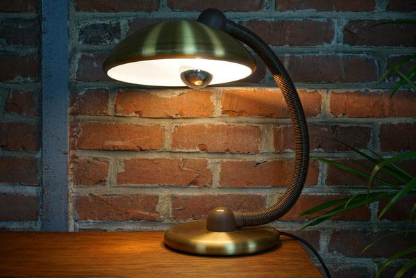 Magnifique Lampe laiton doré design 70