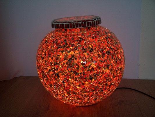 Belle, originale, grande lampe de sol en mosaique
