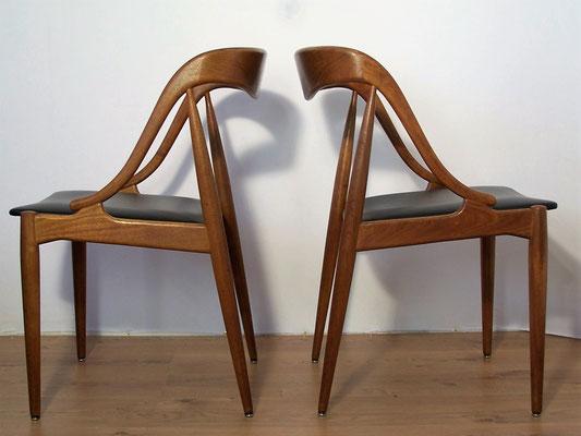 Suite de 4 chaises Johannes Andersen Uldum Mobelfabrik 1960